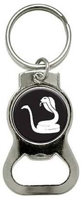 Cobra Snake Bottle Cap Opener Keychain Ring