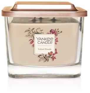Yankee Candle Elevation Collection with Platform Lid Medium 3-Wick Square Candle, Velvet Woods