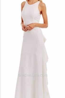 Nicole Miller Cascading Ruffled Keyhole Dress