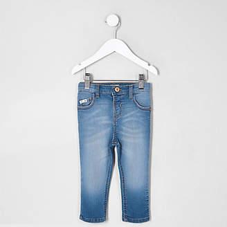 River Island Mini boys blue Sid faded skinny jeans