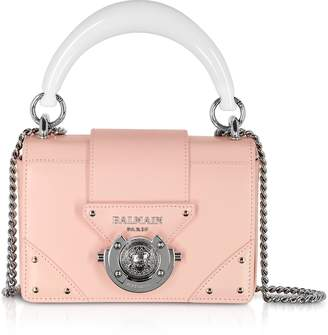 Balmain Leather Top Handle Mini Bag