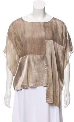 Edun Silk Short-Sleeve Blouse