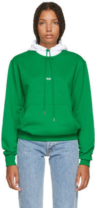 Helmut Lang Green and White Tokyo Edition Taxi Hoodie