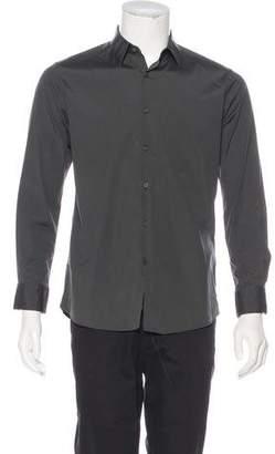 Fendi Woven Button-Up Shirt