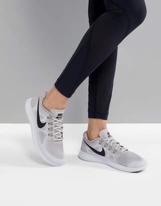Nike Running Free Run Sneakers In Silver