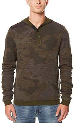 Buffalo David Bitton Men's Wiflage Long Sleeve Henley Camo Pullover Fashion Sweater