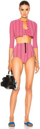 Lisa Marie Fernandez Genevieve High Waist Twin Set Bikini $595 thestylecure.com