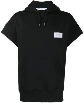 Givenchy drawstring short sleeve hoodie black