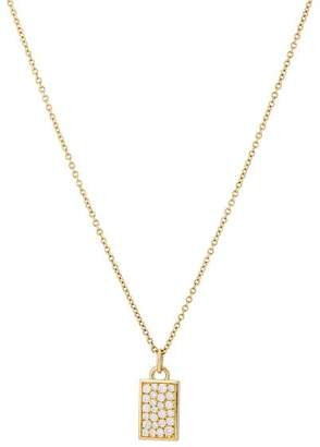 Dean Harris Men's Diamond Tag Pendant Necklace - Gold