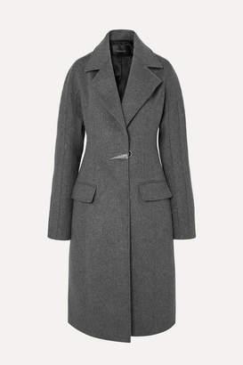 Thierry Mugler Dolmen Wool-felt Coat - Gray