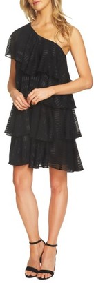 Women's Cece One Shoulder Ruffle Tiered Dress $169 thestylecure.com