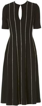 Carolina Herrera Keyhole Crystal Midi Dress