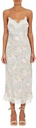 Zimmermann Women's Lace-Trimmed Satin Slip Midi-Dress $580 thestylecure.com