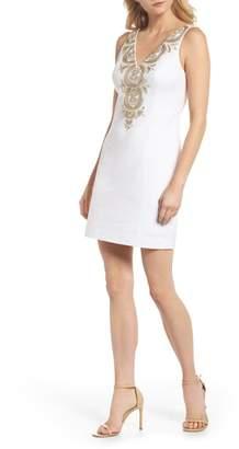 Lilly Pulitzer R) Gabby Metallic Sheath Dress