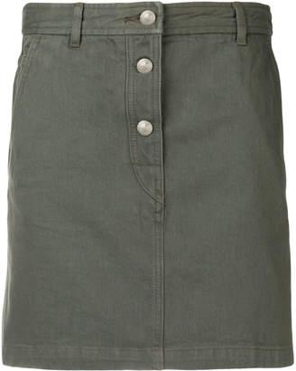 A.P.C. denim mini-skirt