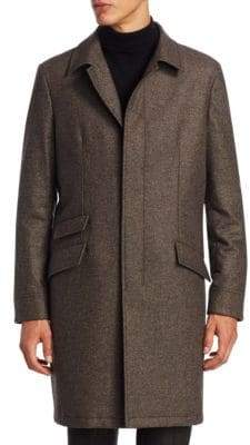 COLLECTION Single-Breasted Wool Topcoat