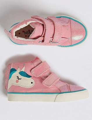 Marks and Spencer Kids' Unicorn High Top Trainers (5 Small - 12 Small)