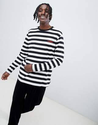 Diamond Supply Co. Striped Long Sleeve T-Shirt With Logo