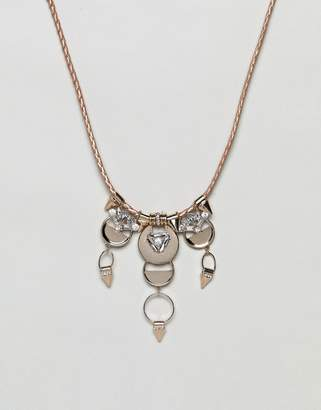 Missguided Crystal Drop Collar Necklace