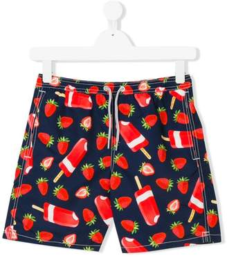 MC2 Saint Barth Kids TEEN strawberry print swim shorts