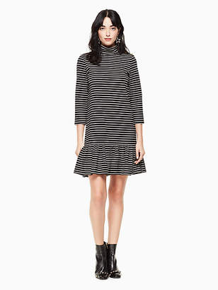 Kate Spade Mock neck stripe knit dress