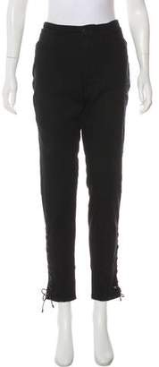Ralph Lauren Black Label High-Rise Straight-Leg Jeans
