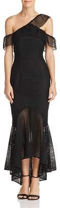 Jarlo Cora Asymmetric Lace Gown