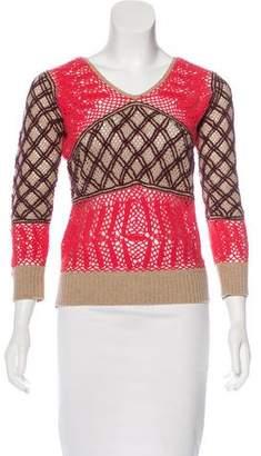 Marc Jacobs Wool Open Knit Sweatshirt