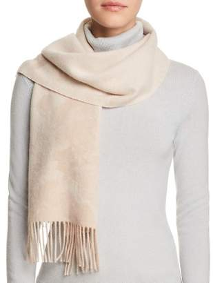 Bloomingdale's C by Blurred Floral Cashmere Scarf - 100% Exclusive
