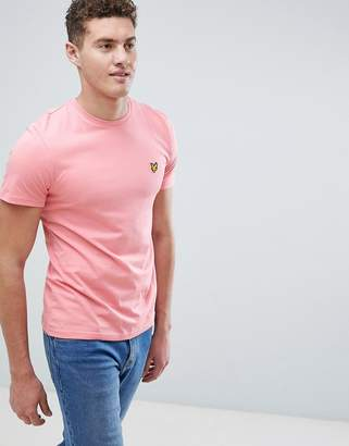 Lyle & Scott logo t-shirt in pale pink