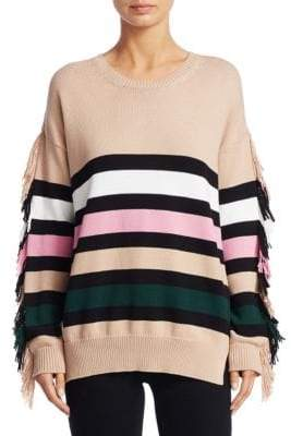 N°21 Striped Fringe Sweater
