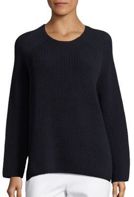 Vince Waffle Stitch Crew Pullover $425 thestylecure.com