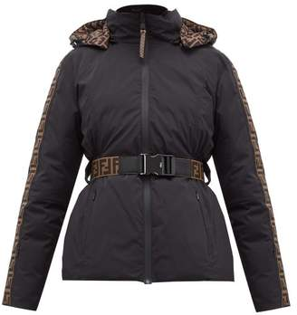 Fendi Rama Reversible Ff Print Shell Down Ski Jacket - Womens - Black
