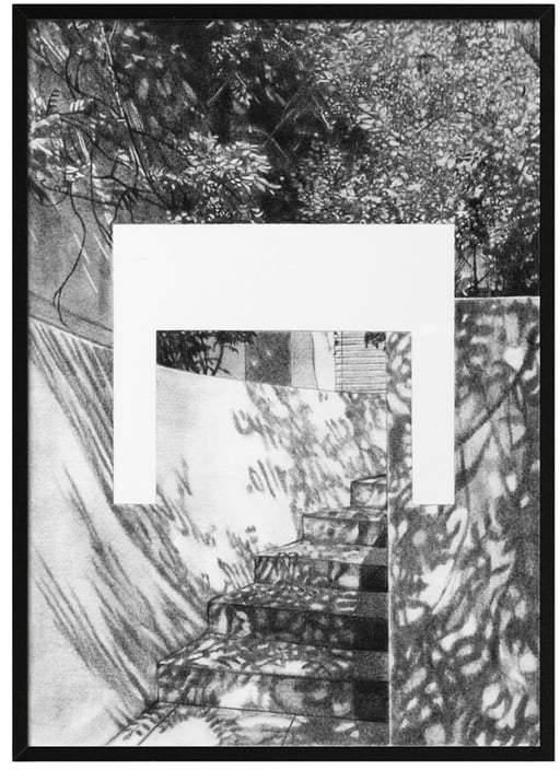 by Lassen - Silhouette Poster A4, 21 x 29.7 cm, grau