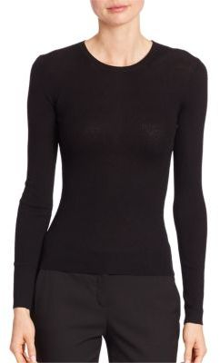Michael Kors Collection Ribbed Cashmere Crewneck Sweater $595 thestylecure.com