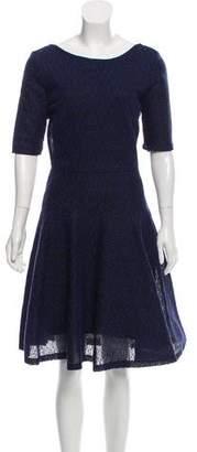 Christian Dior Textured A-Line Dress