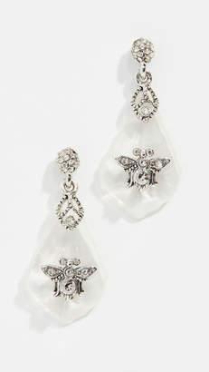 Oscar de la Renta Resin Chandelier Earrings