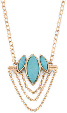 Made In Thailand Turquoise And Bronze Necklace