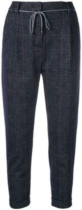 Eleventy cropped check trousers