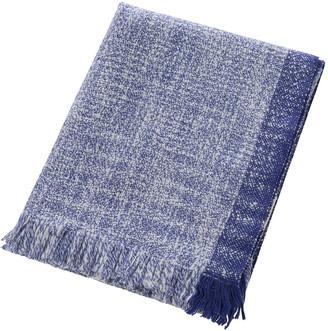ferm LIVING Red Cross X Enfold Wool Blanket - Blue White 82415a25b