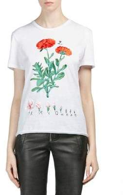 Alexander McQueen Embroidered Botanical T-Shirt