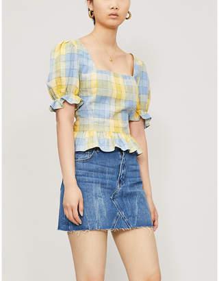 850cc7e0c7 Frayed Hem Denim Skirt - ShopStyle