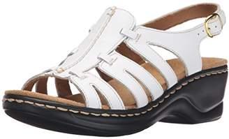 108cf00fbfb Clarks White Platform Heel Women s Sandals - ShopStyle
