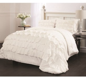 Latitude Run Latitude Ruby Ruffle Bedding Comforter Set