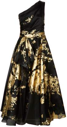 Marchesa Metallic Organza Gown