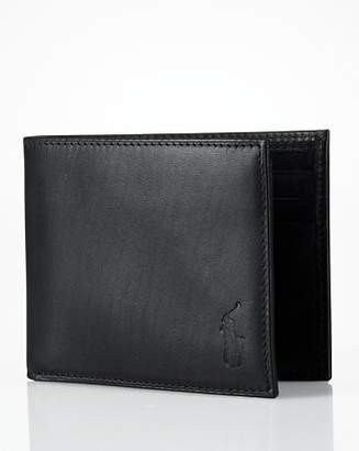 Ralph Lauren Burnished Leather Passcase Wallet