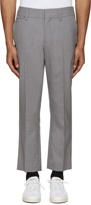 Marc Jacobs Grey Sutton Suiting Trousers $490 thestylecure.com