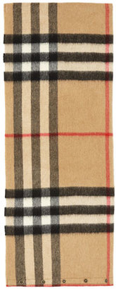 Burberry Kids' Cashmere Check Snood, Camel $225 thestylecure.com
