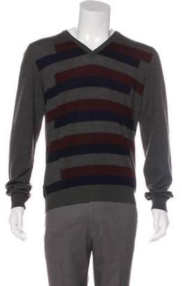 Prada Sport Wool V-Neck Sweater