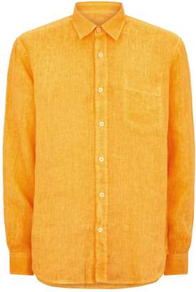 1f4e4fcc367a74 Mens Orange Linen Shirt - ShopStyle Australia